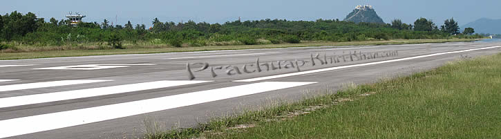 Airstrip Prachuap Khiri Khan with mountains